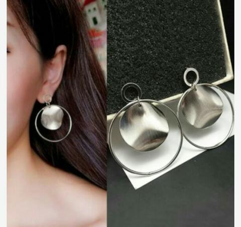 Anting Import Copper Matte Texture Ring Bump