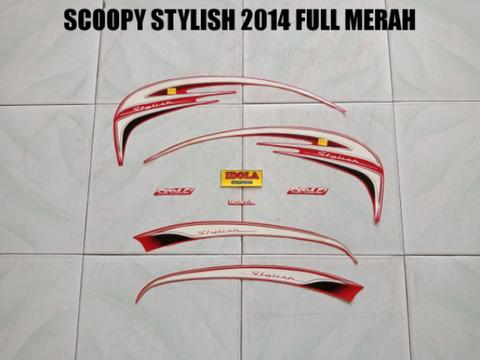 Striping Scoopy Stylish 2014 Full Merah