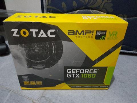 Zotac GTX 1060 6GB AMP! Edition - New