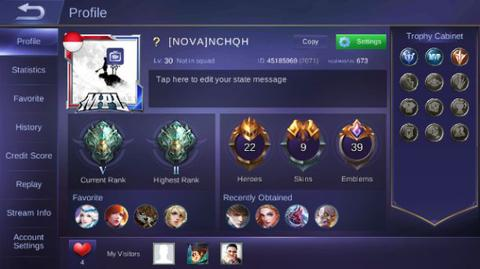 Jual Akun Mobile Legend Lv 30