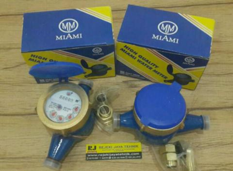 "Meteran Air Miami Water Meter 1/2"" Bodi Besi"