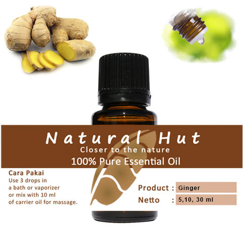 100% PURE ESSENTIAL OIL (GINGER) - 10ml
