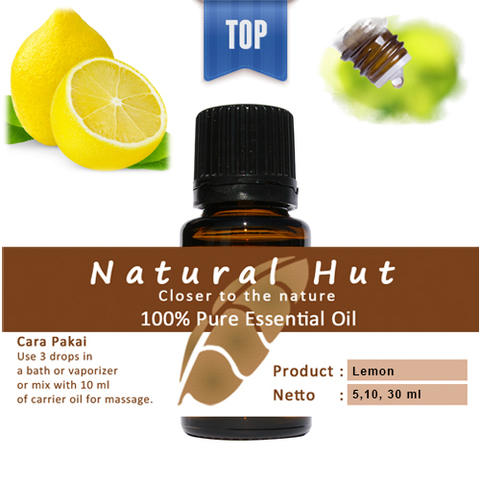100% PURE ESSENTIAL OIL (LEMON) - 10ml