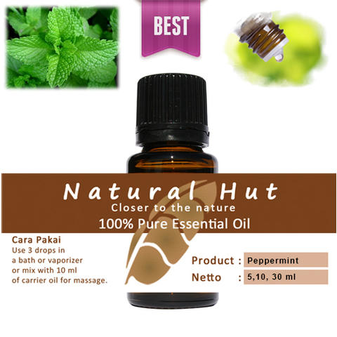100% PURE ESSENTIAL OIL (PEPPERMINT) - 10ml