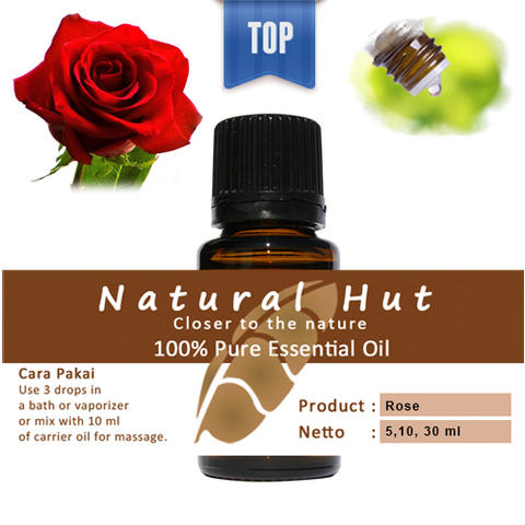 100% PURE ESSENTIAL OIL (ROSE) - 5ml