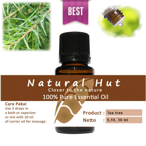100% PURE ESSENTIAL OIL (TEA TREE) - 10ml