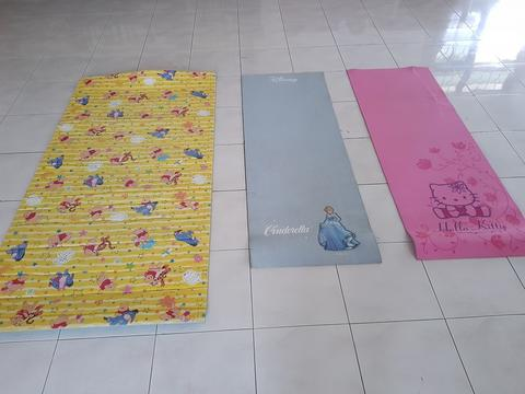 Matras Senam Yoga Fitness Anak Disney Cinderella Hello Kitty Winnie The Pooh