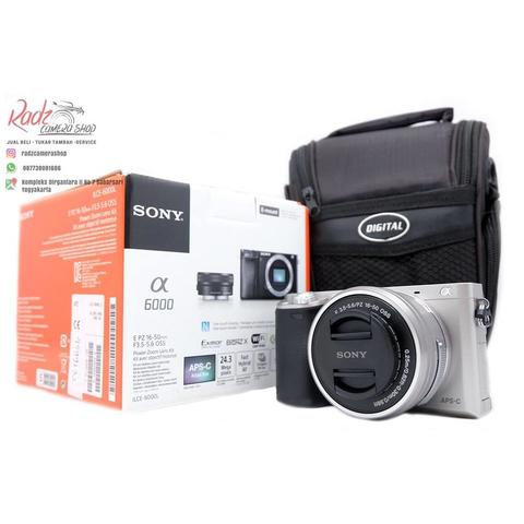 [Radz Camera Shop] Sony A6000 Kit 16-50 OSS Silver Mulus