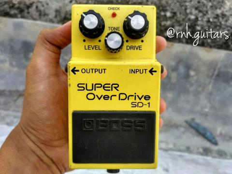 boss sd1 super overdrive not ts9 ts808 mxr gfi walrus jhs ehx wampler tech21 tc amt