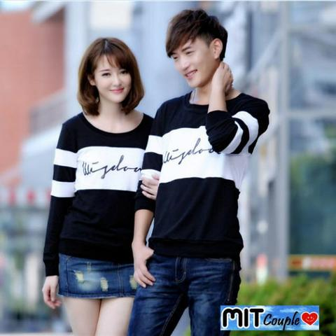 Sweater Couple Wisdom Hitam Putih