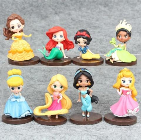 DISNEY PRINCESSES figure set (very good quality) / rapunzel ariel tiana belle jasmine