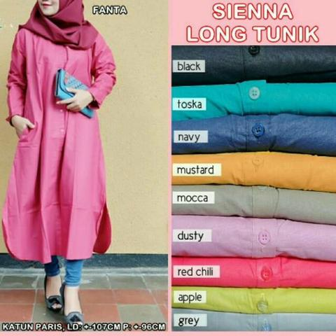 Long tunik import katun