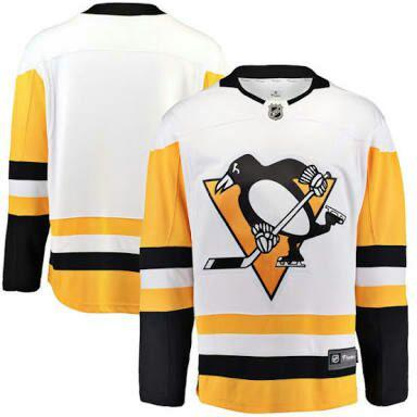 jersey nhl hockey Pittsburgh Penguins Fanatics Branded White Breakaway Away Jersey