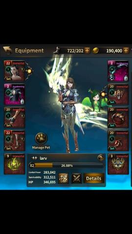 akun HIT (Heroes of Incridible Tales) Lena level 82 server Asia