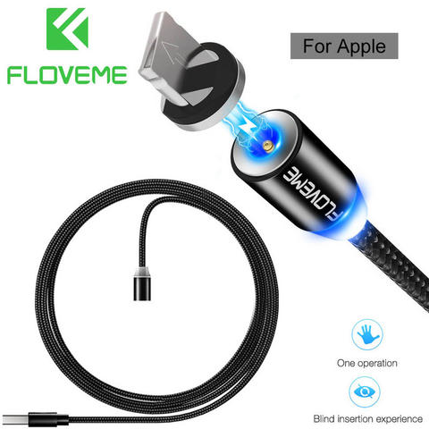 Floveme Magnetic Charging Lightning 8-Pin Cable