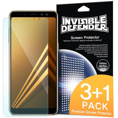 Ringke Invisible Defender Screen Protector Samsung Galaxy A8 Plus 2018
