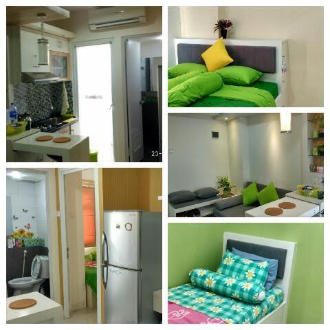 the green pramuka 2br sewa furnish tahunan