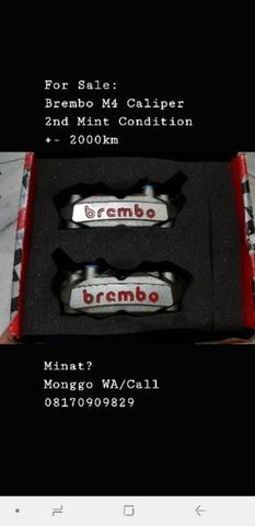 Kaliper Brembo M4 108mm 2nd Mint Condition