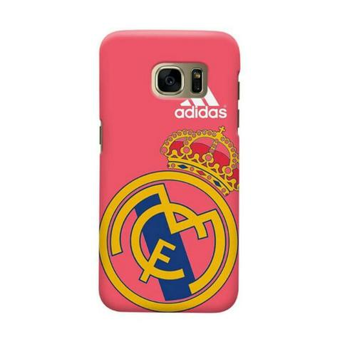 Real Madrid Adidas Red Background Samsung Galaxy S7 Edge Custom Hard Case