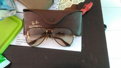 Rayban leather B&L USA 58 medium colormatic original