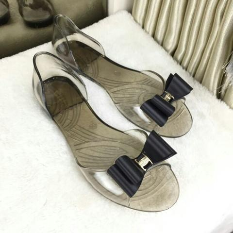 Sepatu Sandal Fashion Wanita Murah Jelly Flats Good Quality Best Seller Import #603