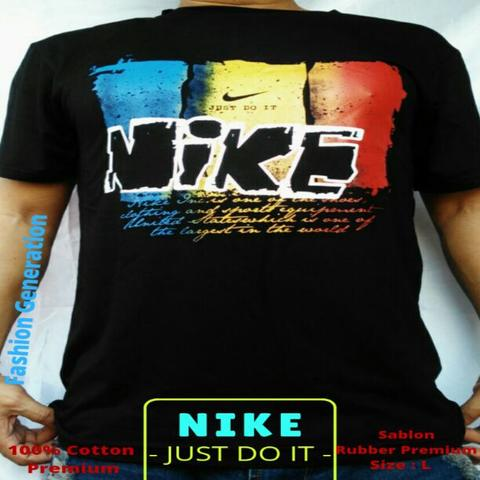 Kaos Premium Pria/Cowok Nike Just Do It Full Cotton Good Quality Size L
