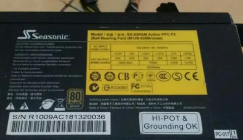 Psu Seasonic 620w Modular