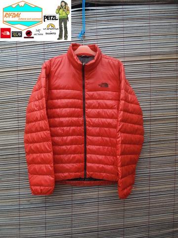 TNF THE NORTH FACE PREMIUM DOWN FLARE JACKET RARE SIZE L MENS PAPRIKA ORANGE