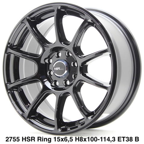 velg racing hsr 2755 ring 15x65 H8x100-1143 ET38 Black