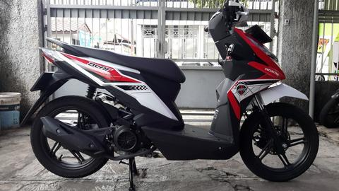 honda Beat CBS 110 CW inject 2017 bln 12 new, km 1.000 gress baru full ori