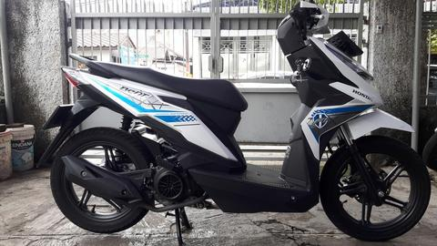 honda Beat ECO 110 CW inject 2017 bln 11 new, km 2.500 gress baru full ori