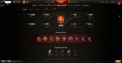 Account World of Tanks ( WOT )