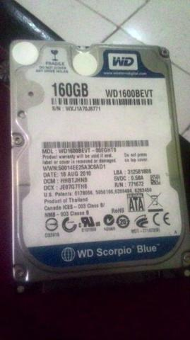 Hard disk 160gb merk WD BLUE