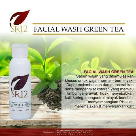 Pembersih Wajah / Facial Wash Green Tea 250ml SR12 - Harga Distributor