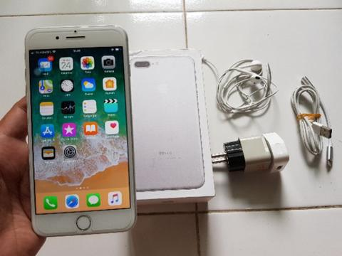 iPhone 7Plus / iPhone 7 Plus 32GB Silver Fullset Harga Batangan