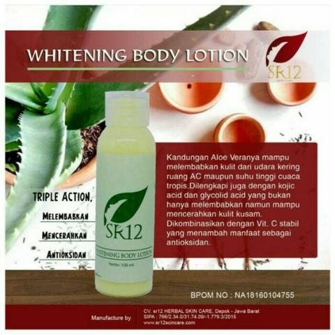 Body Lotion SR12 - Harga Distributor