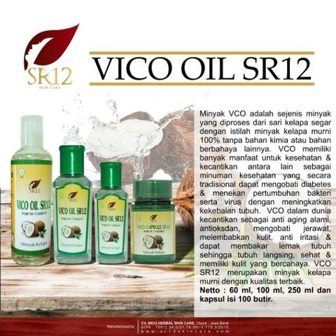 VCO (Virgin Coconut Oil) Cair 250ml SR12 - Harga Distributor