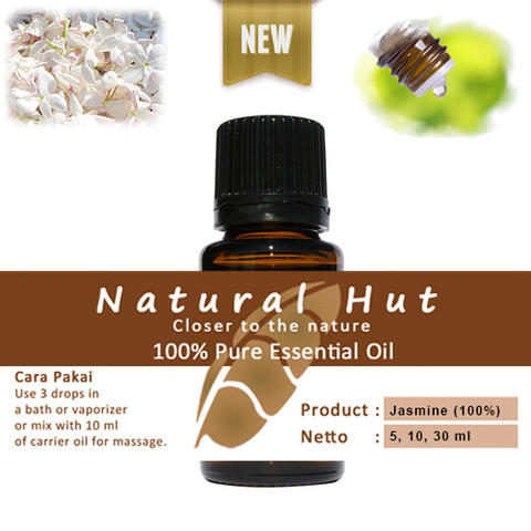 100% PURE ESSENTIAL OIL (100% JASMINE SAMBAC - MELATI) 10ml
