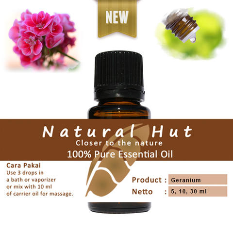 100% PURE ESSENTIAL OIL (GERANIUM BOURBON) 5ml