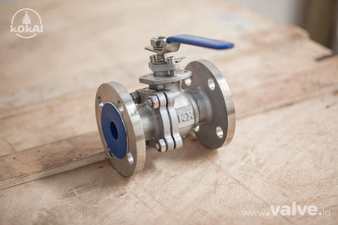"Ball Valve 1 1/2"" 2PC Body 10K, SS304 - KOKAI VALVE"