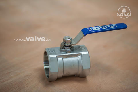 "Ball Valve 1 1/4"" 1PC Body 1000 WOG - KOKAI Valve"