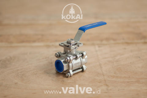 "Ball Valve (DN25 / 1"") 3PC Body Mounting Pad 1000WOG - KOKAI VALVE"