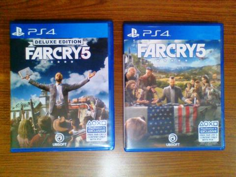 Jual Cepat Full DLC Far Cry 5 Deluxe Edition, Far Cry 5 Standard Edition Blu-ray PS4