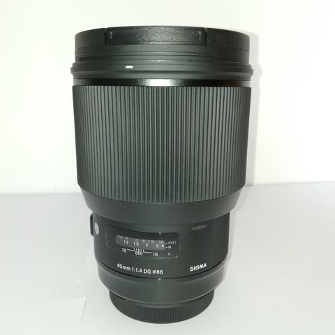 LENSA SIGMA 85mm F1.4 EX DG HSM A (ART) FOR CANON Mulus abis (MINT!)