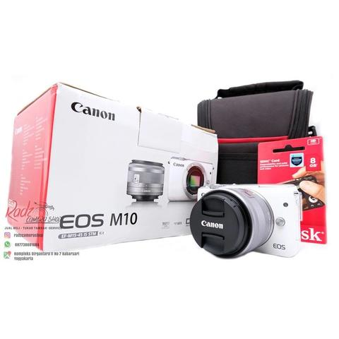 [Radz Camera Shop] Canon EOS M10 White Kit 15-45mm STM Garansi DS November 2018