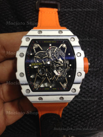 Richard Mille RM35 01 Rafa Nadal Forged Carbon White Swiss Eta RM35-01