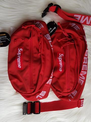 Supreme Waistbag SS18 Red (BNIPWT)