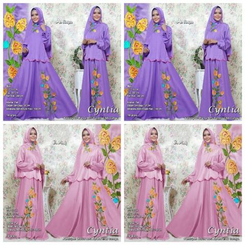 ALL Varian Baju Gamis CYNTIA SYARI BODIR by PGMS Collections