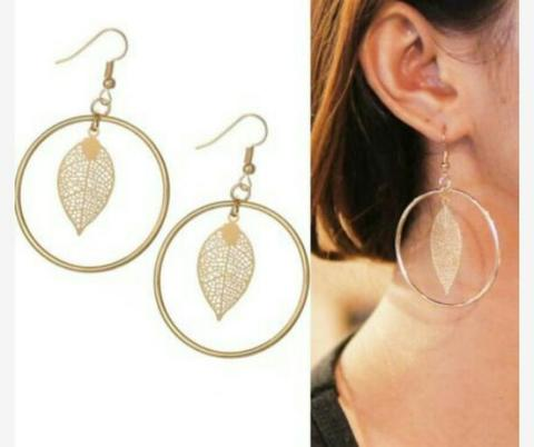 Anting Import Geometric Leaves Round