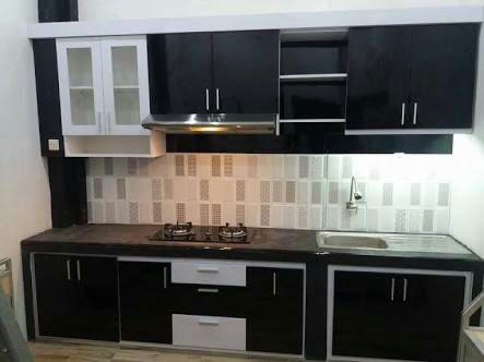 Kitchenset Minimalis Black and White